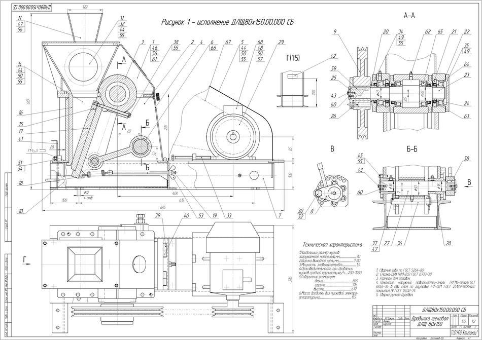 Crusher DLSh 80x150